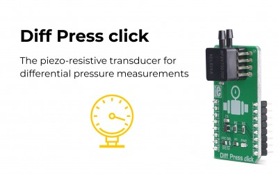 Accurate pressure sensor – Diff Press click