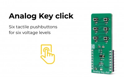Develop your own alarm system with the Analog Key click