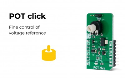 POT click – provides accurate reference voltage output