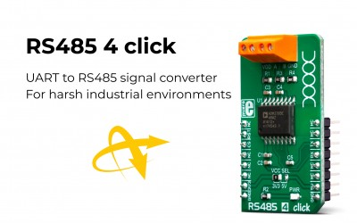 RS485 4 click for UART to RS485 signal conversion