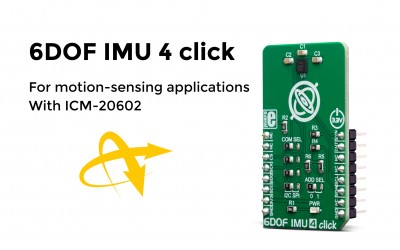 6DOF IMU 4 click – 6-axis motion tracking Click board™