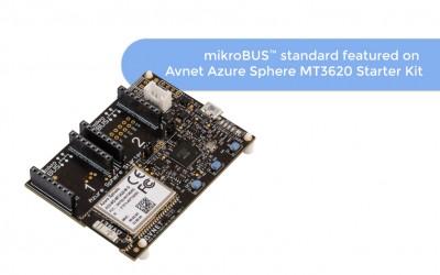 mikroBUS™ standard featured on Avnet Azure Sphere MT3620 Starter Kit