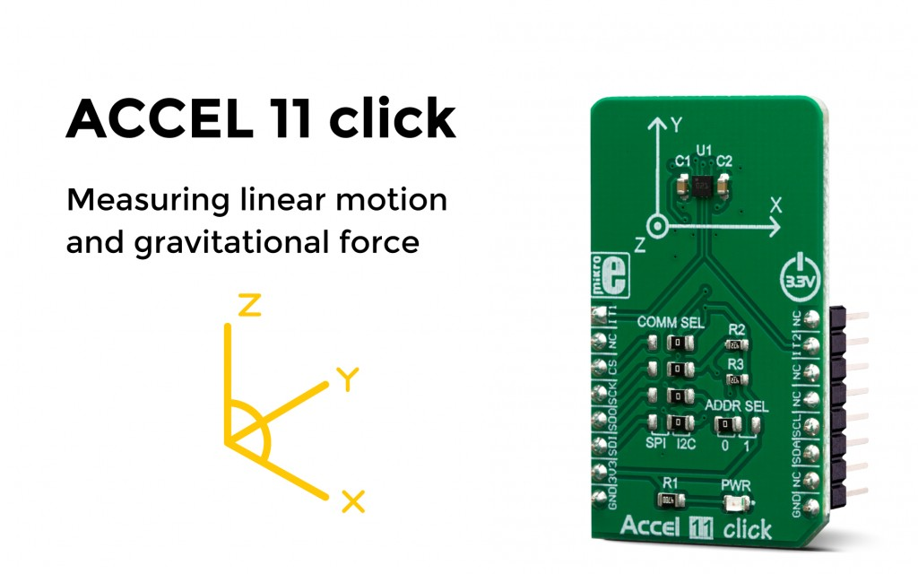 Accel 11 click – accelerometer sensor with embedded intelligence