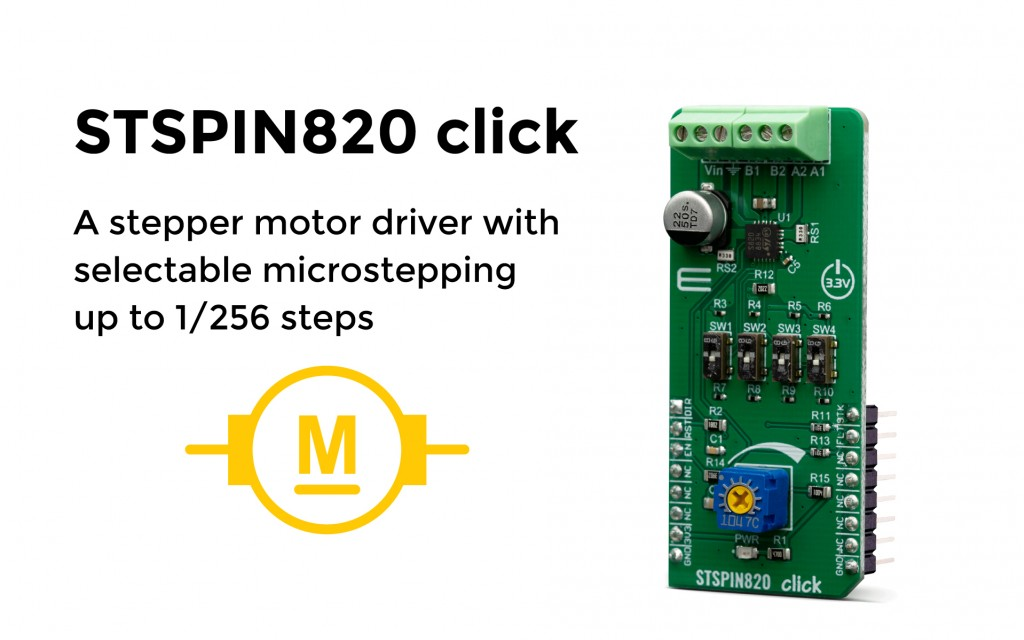 An advanced stepper driver with high-resolution microstepping and