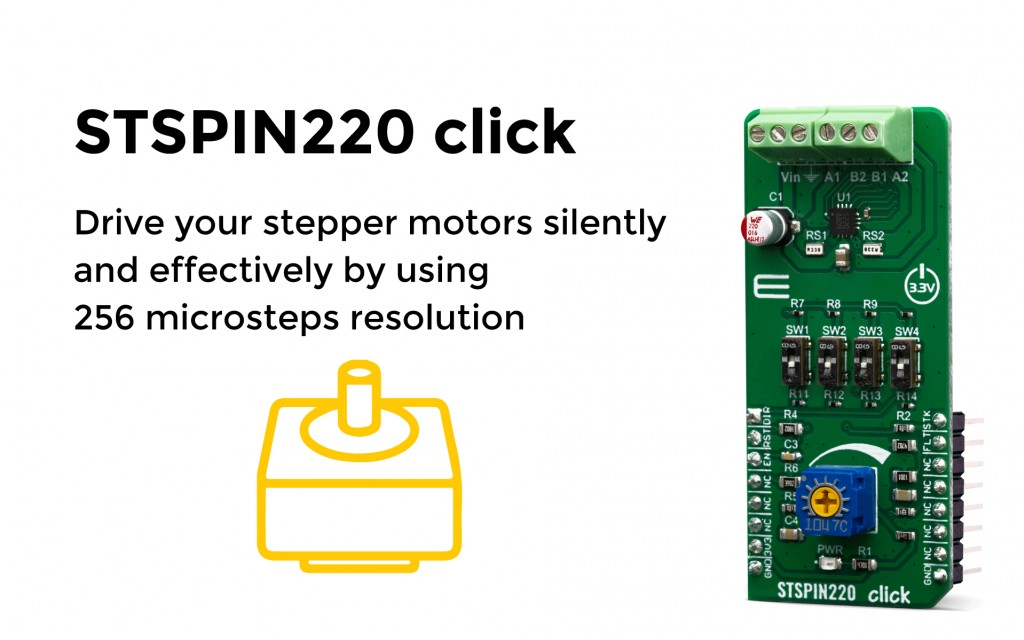 Drive your stepper motors silently and effectively by using 256 microsteps resolution