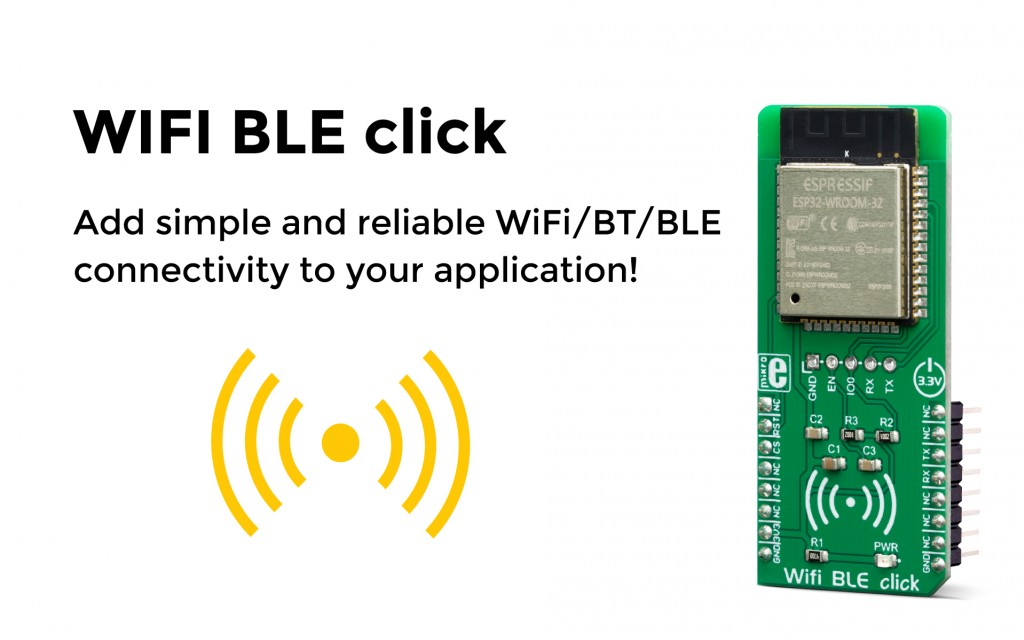 Add simple and reliable WiFi/BT/BLE connectivity to your application!