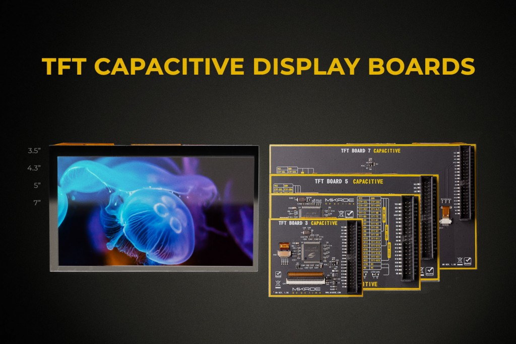 Meet the TFT Capacitive display boards with a new display board standard!