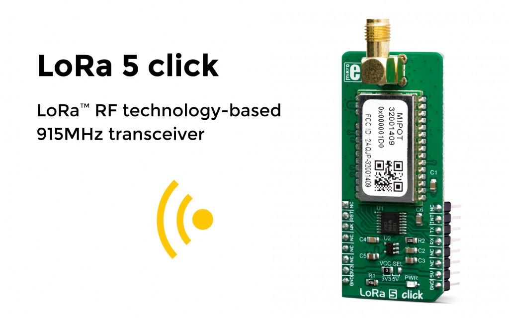 LoRa 5 click – long range communication!