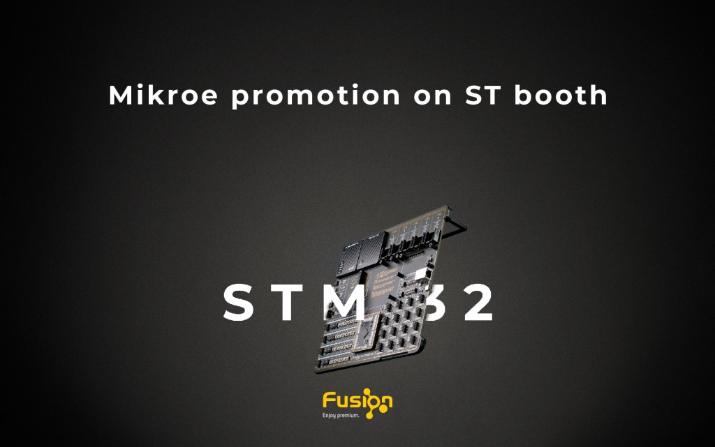 Mikroe promotion on ST booth at PCIM exhibition in Nuremberg