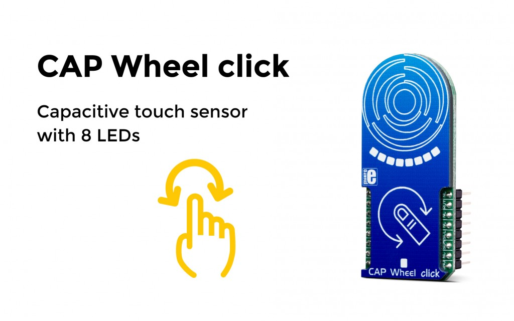 Capacitive touch sensor with 8 LEDs