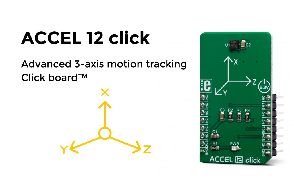 Advanced 3-axis motion tracking Click board™
