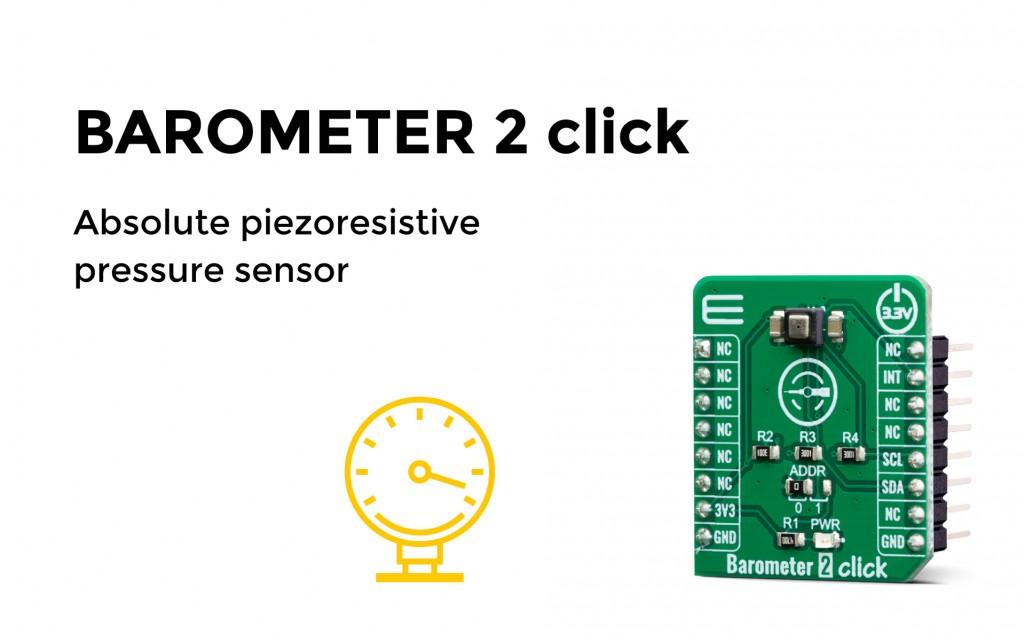 Absolute piezoresistive pressure sensor