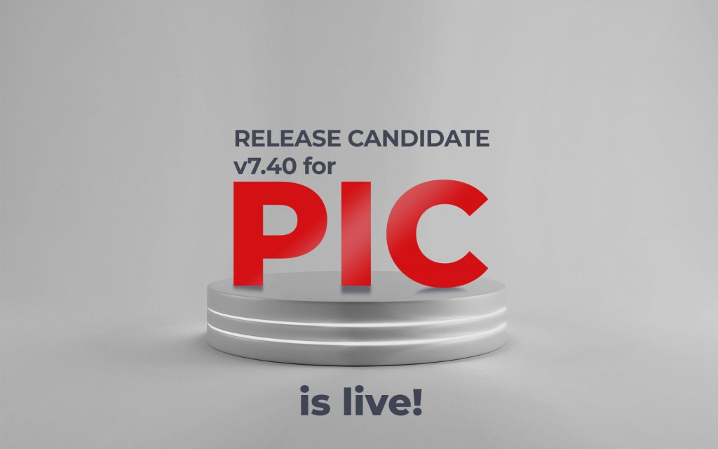 Release candidate v7.40 for PIC is live!