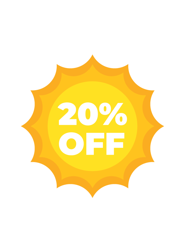 Summer Sale -20% discount on all of our products!