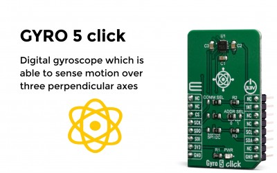 Digital gyroscope which is able to sense motion over three perpendicular axes