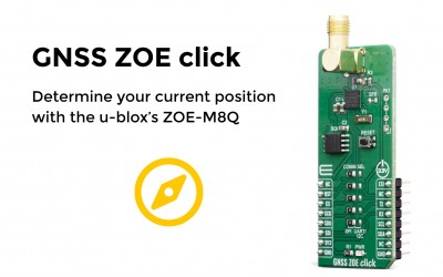 Determine your current position with GNSS ZOE click