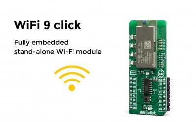 WiFi 9 click – Fully embedded stand-alone Wi-Fi module