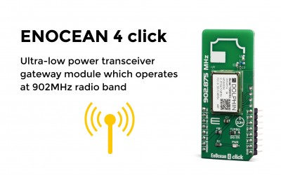Ultra-low power transceiver gateway module which operates at 902MHz radio band