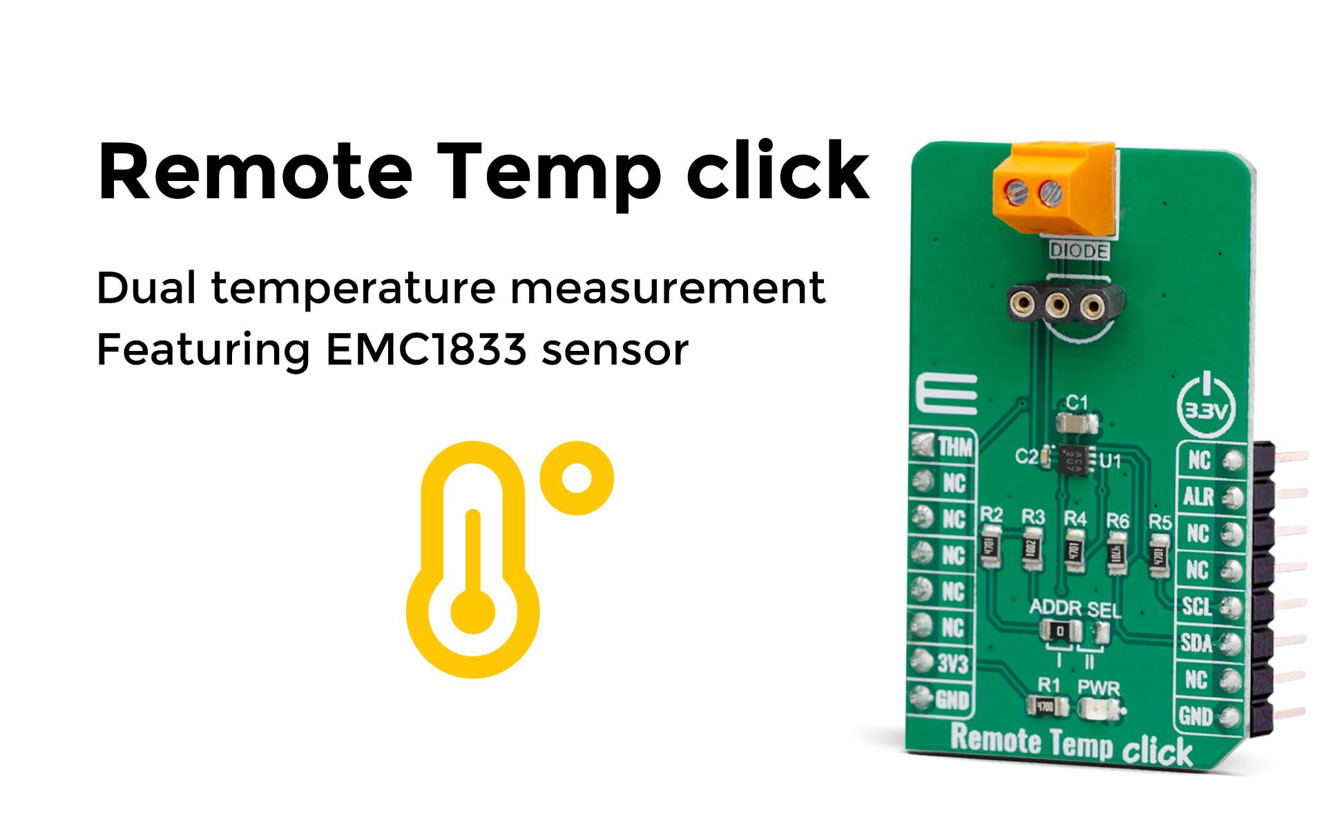 Dual temperature measurement featuring EMC1833 sensor