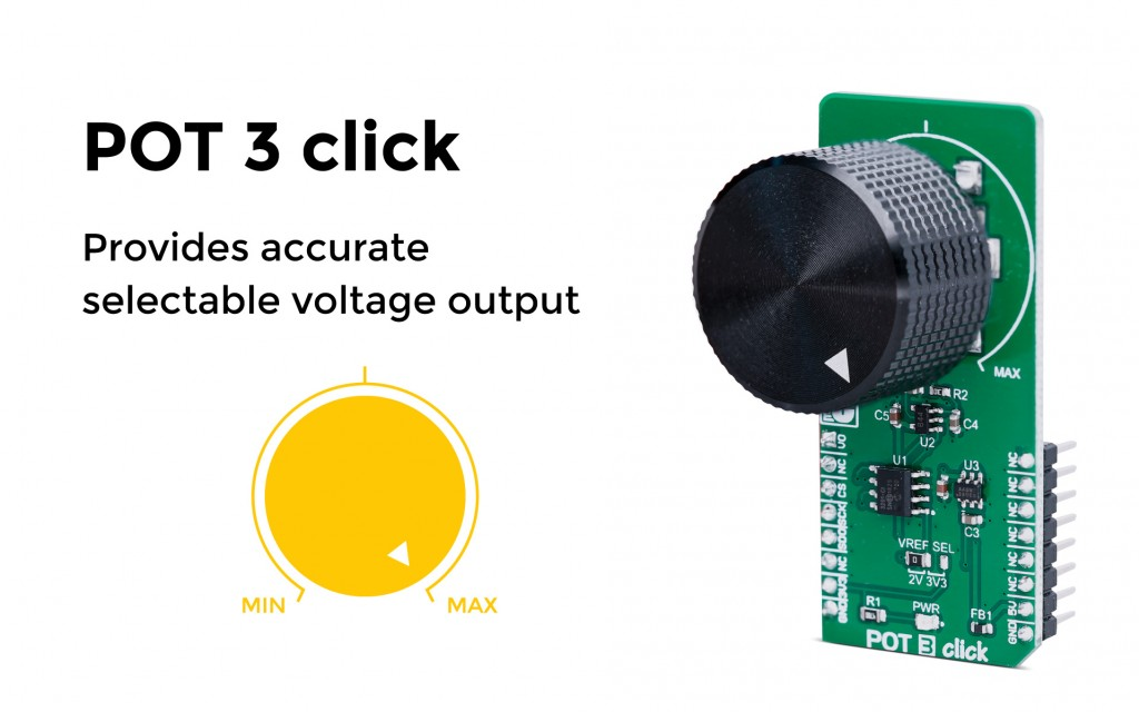 Provides accurate selectable voltage output