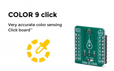 Very accurate color sensing click board™