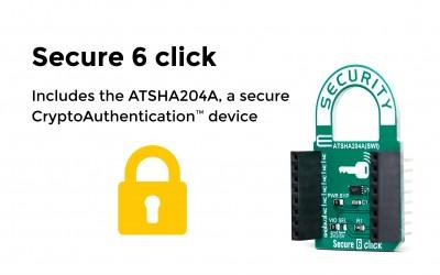 Includes theATSHA204A, a secure CryptoAuthentication™ device