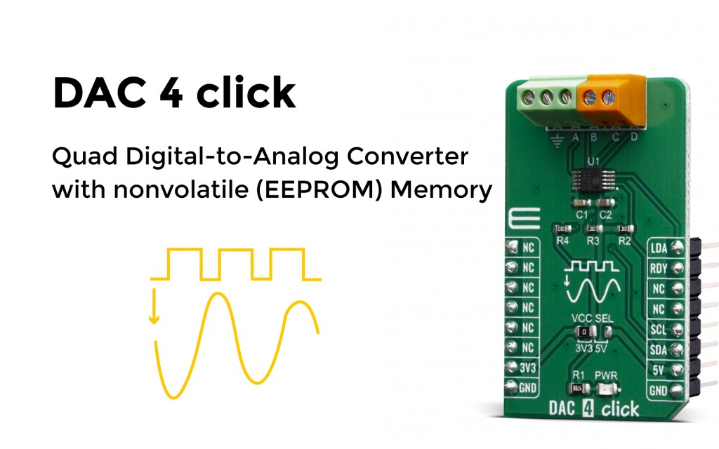 Quad Digital-to-Analog Converter with nonvolatile (EEPROM