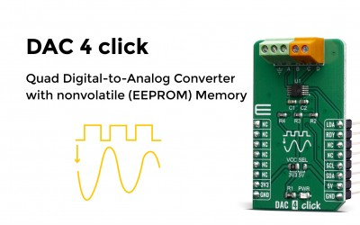 Quad Digital-to-Analog Converter with nonvolatile (EEPROM) Memory