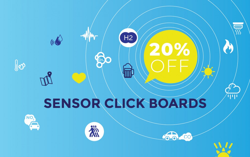 Special weekend offer - 20% off on all Sensor Click boards™