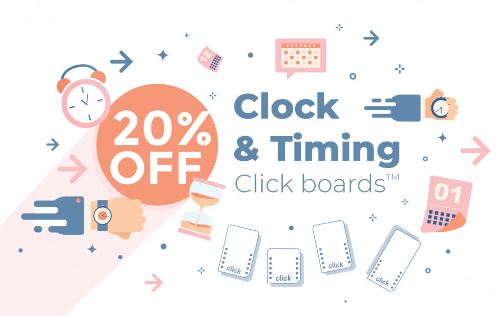 Special weekend offer – 20% discount on all Clock & Timing click boards