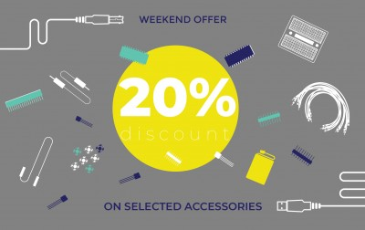 Special weekend offer – 20% discount on selected accessories