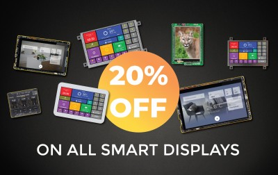 Special weekend offer – 20% discount on all Smart Displays