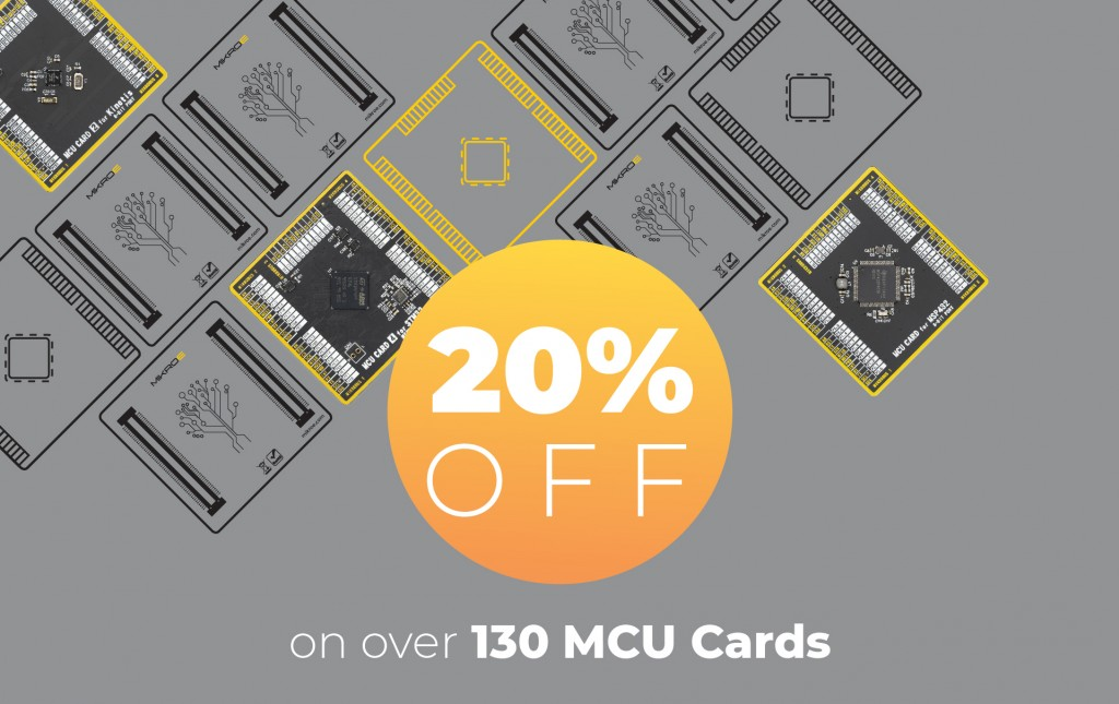 20% off on all MCU Cards