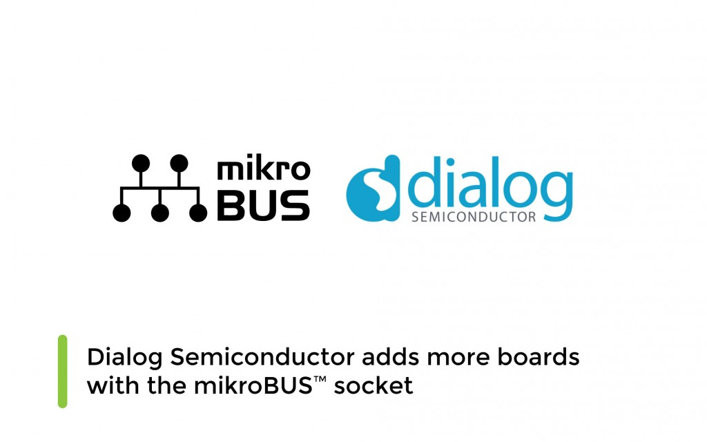 Dialog Semiconductor adds more boards with the mikroBUS™ socket