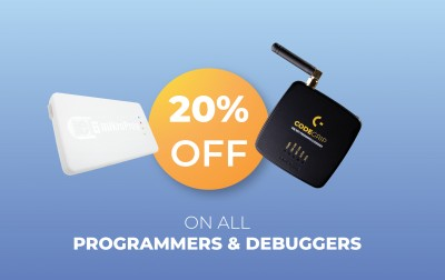 20% off on all Programmers & Debuggers