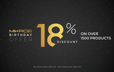 Mikroe's 18th Birthday offer has started!