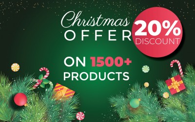 Christmas offer – 20% off on 1500+ products