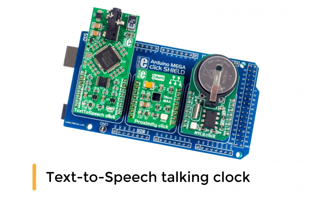 Text-to-Speech talking clock