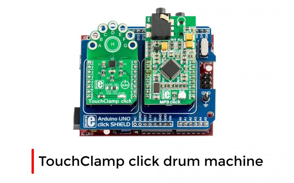 TouchClamp click drum machine