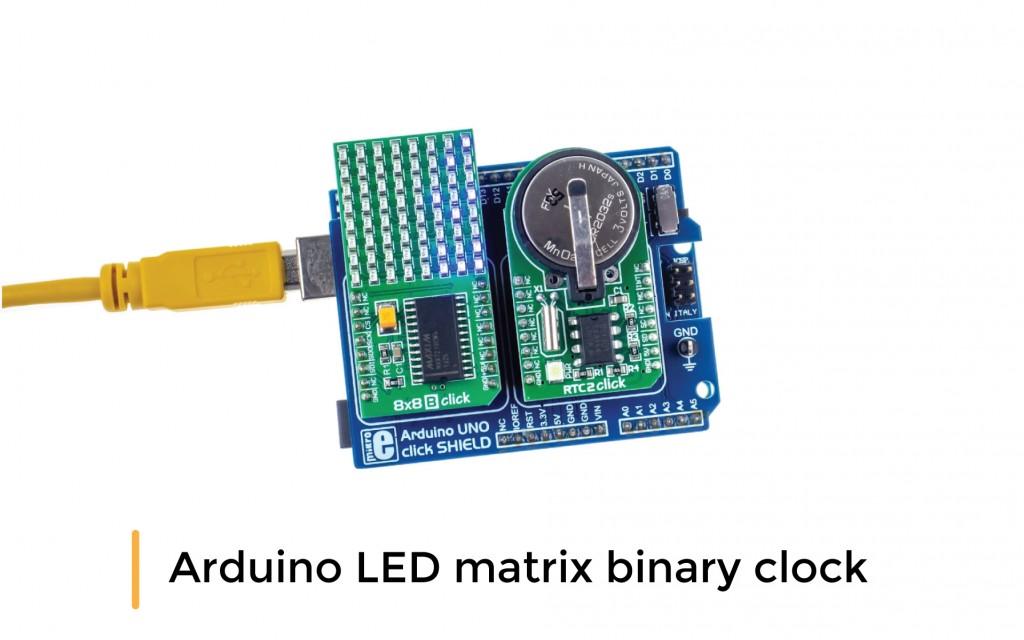 Arduino LED matrix binary clock
