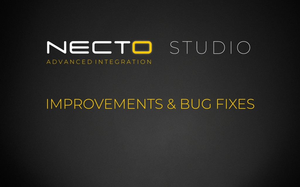 NECTO Studio – Improvements & Bug Fixes