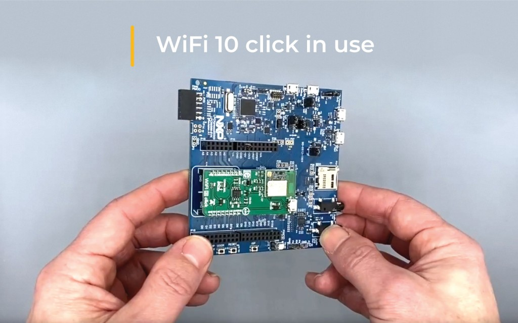 WiFi 10 click in use