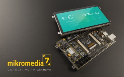 mikromedia 7 CAPACITIVE FPI with frame