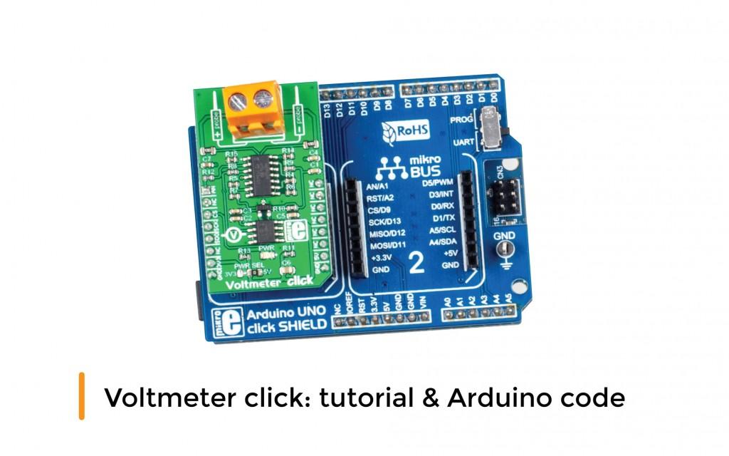 Voltmeter click: tutorial & Arduino code