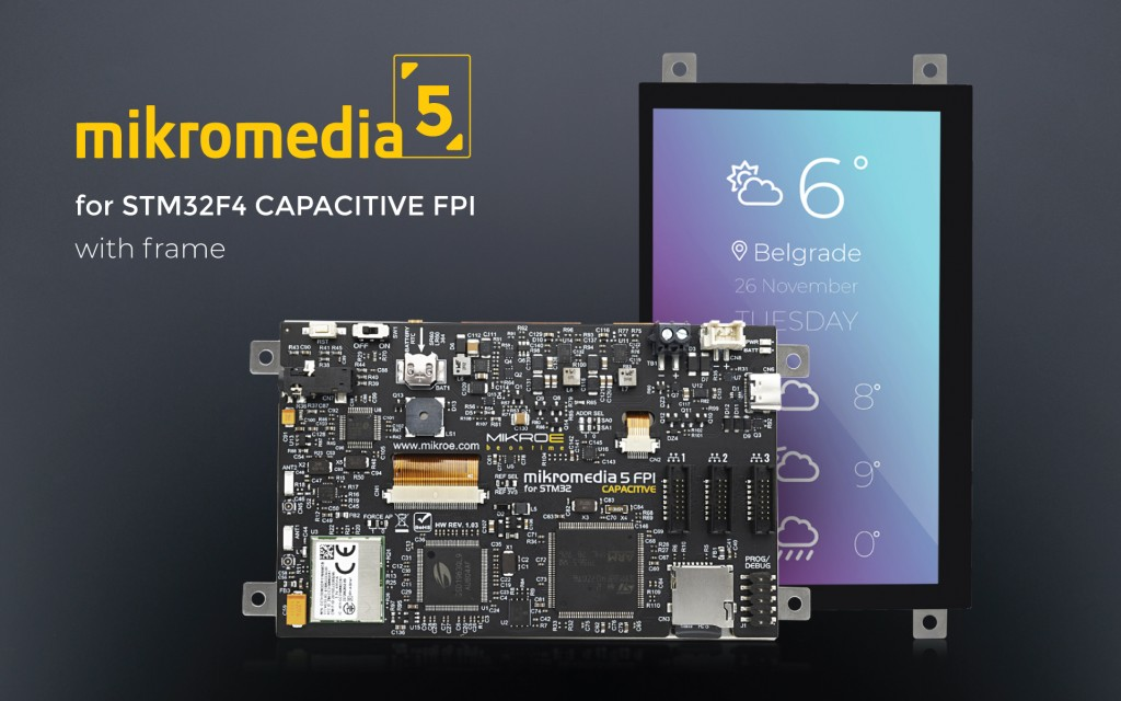 mikromedia 5 for STM32F4 CAPACITIVE FPI with frame