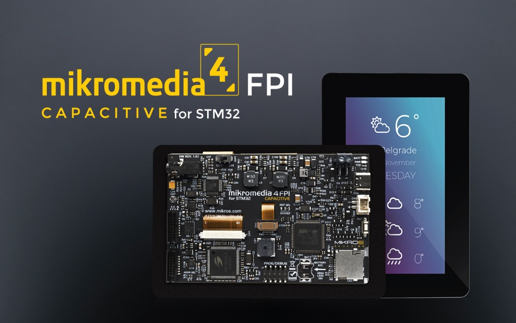 Mikromedia 4 for STM32F4 Capacitive FPI with bezel