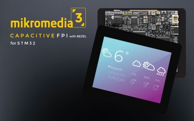 mikromedia 3 for STM32F4 CAPACITIVE FPI with bezel