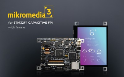 Mikromedia 3 for STM32F4 Capacitive FPI with frame