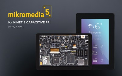 The mikromedia 5 for Kinetis Capacitive FPI with bezel