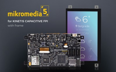 mikromedia 5 for Kinetis Capacitive FPI with frame
